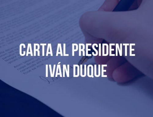 Carta abierta al presidente Iván Duque